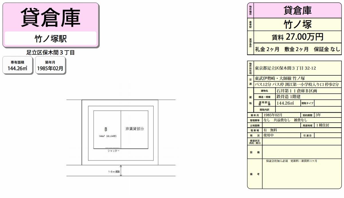 東京都足立区保木間3-32-12 石井 ...