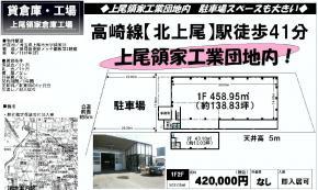 上尾市大字領家39(北上尾駅)上尾領家倉庫工場