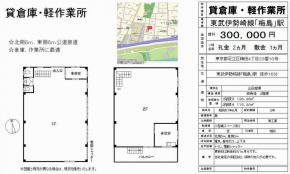 足立区梅田4-23-10(梅島駅)山田倉庫 一棟貸